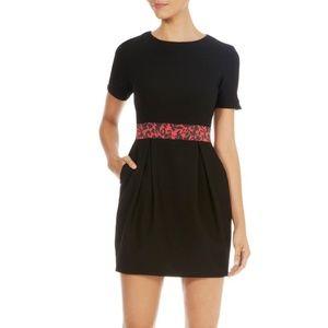 Karen Millen black & red print bubble dress
